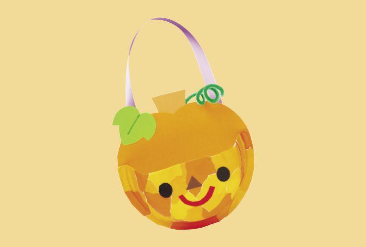 かぼちゃの紙皿バッグ