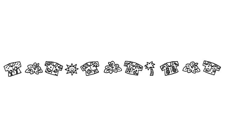 7月の飾り文字