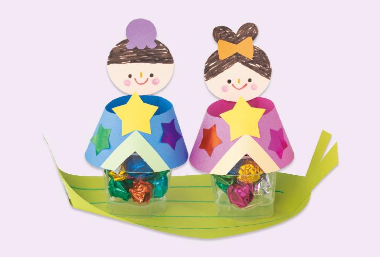 【4・5歳児のたなばた】プリンカップの織り姫・彦星