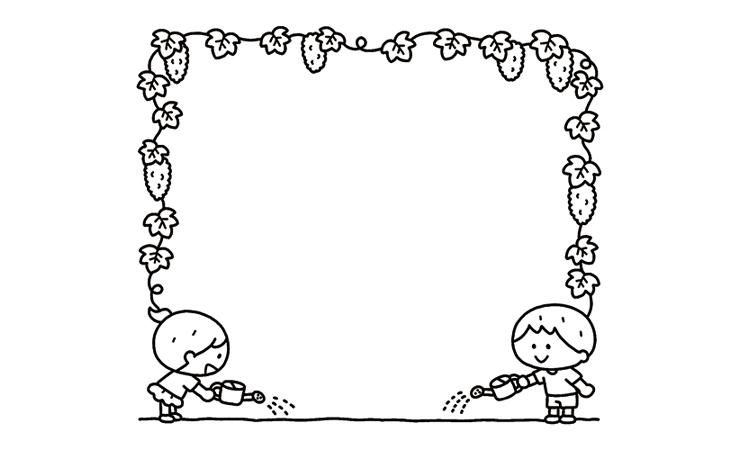 ゴーヤの飾り枠