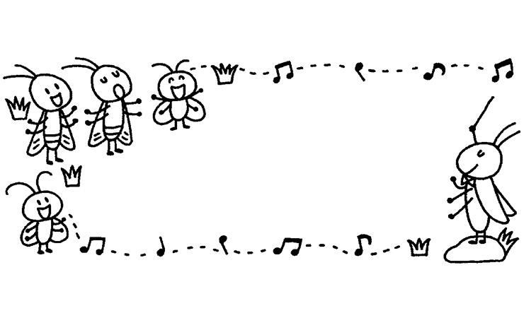 むしの音楽会の飾り枠