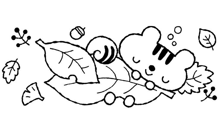 10月のりすの赤ちゃんのイラスト