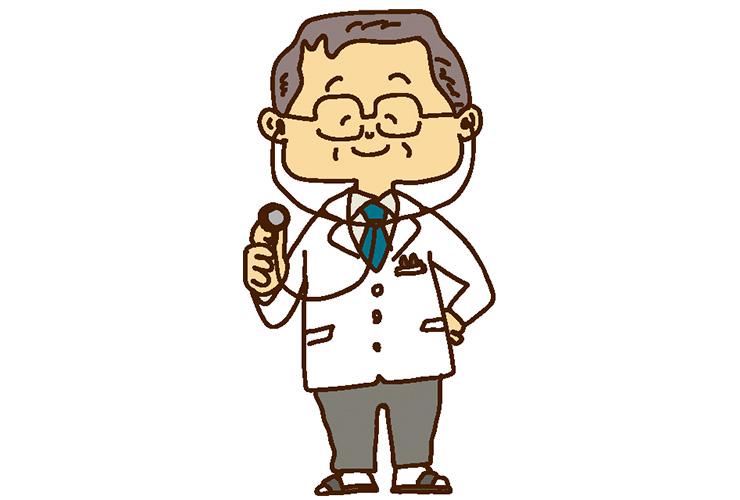 健康診断の医師のイラスト