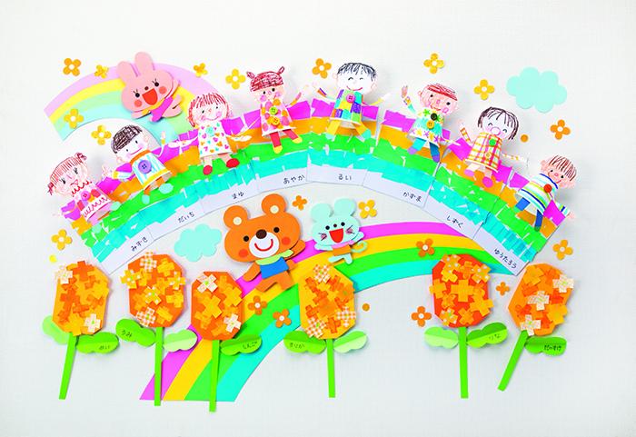子ども製作を飾って壁面飾り〜春〜