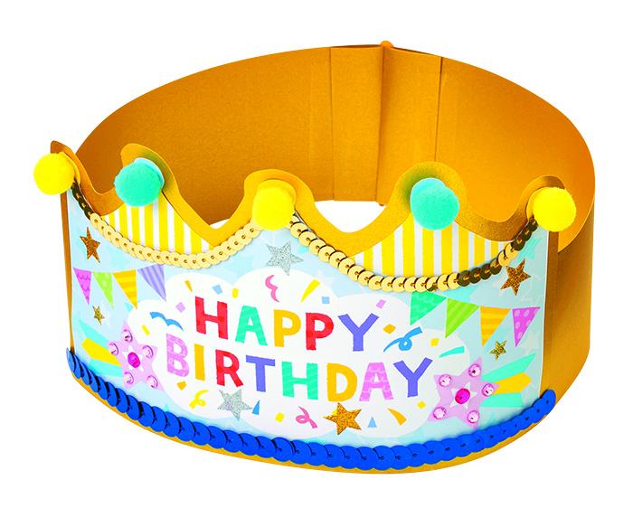 バースデーケーキの王冠&フラッグの王冠
